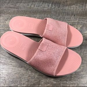 FitFlop Uberknit slide sandals sz 8 pink